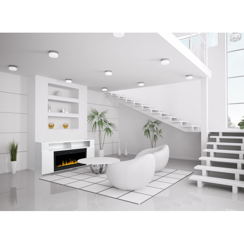 Meuble de salon tv avec cheminee electrique Elena kaminklaus
