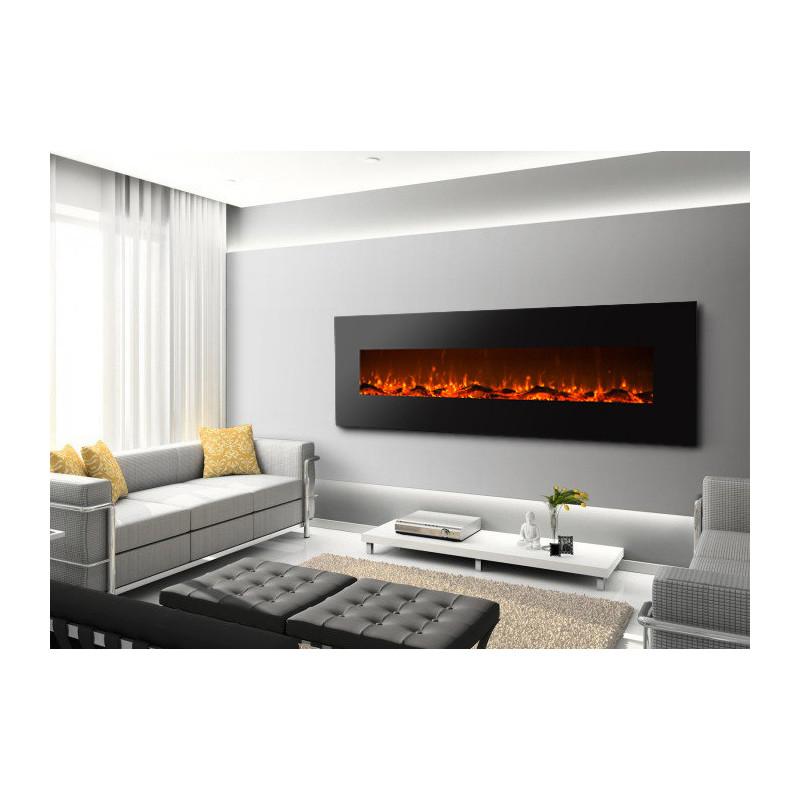 chemin e lectrique 182cm design luxury kamin 72 noire kamin klaus. Black Bedroom Furniture Sets. Home Design Ideas