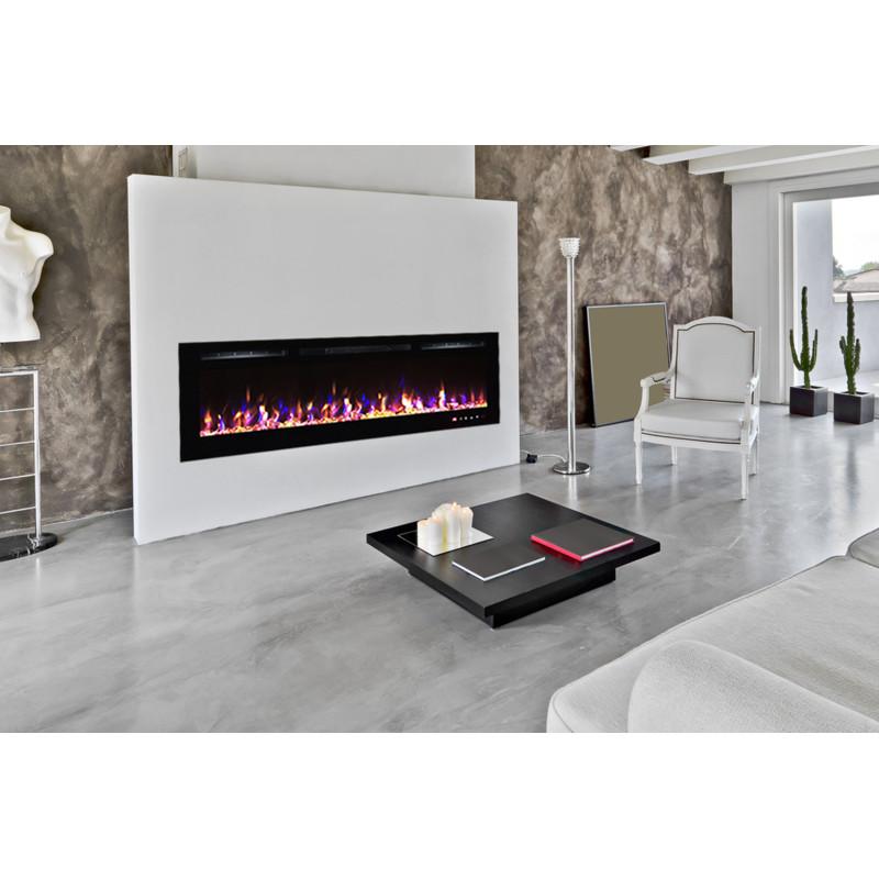 chemin e lectrique 182cm encastrable kamin black nice 72 kamin klaus. Black Bedroom Furniture Sets. Home Design Ideas