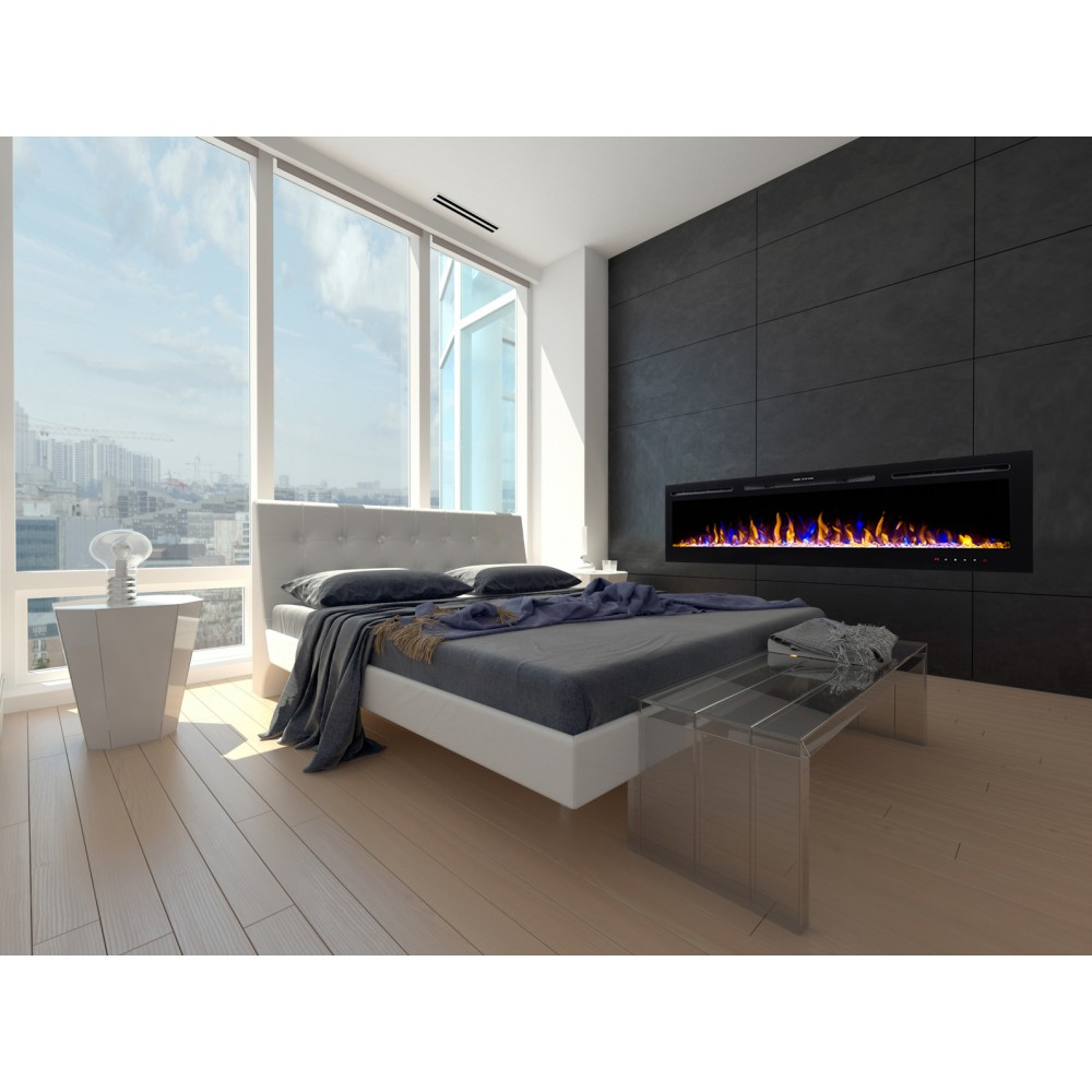 chemin e lectrique encastrable 254cm kamin black nice 100 kamin klaus. Black Bedroom Furniture Sets. Home Design Ideas