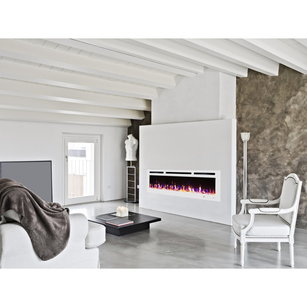 cheminee electrique encastrable verre blanc kamin 72 nice. Black Bedroom Furniture Sets. Home Design Ideas