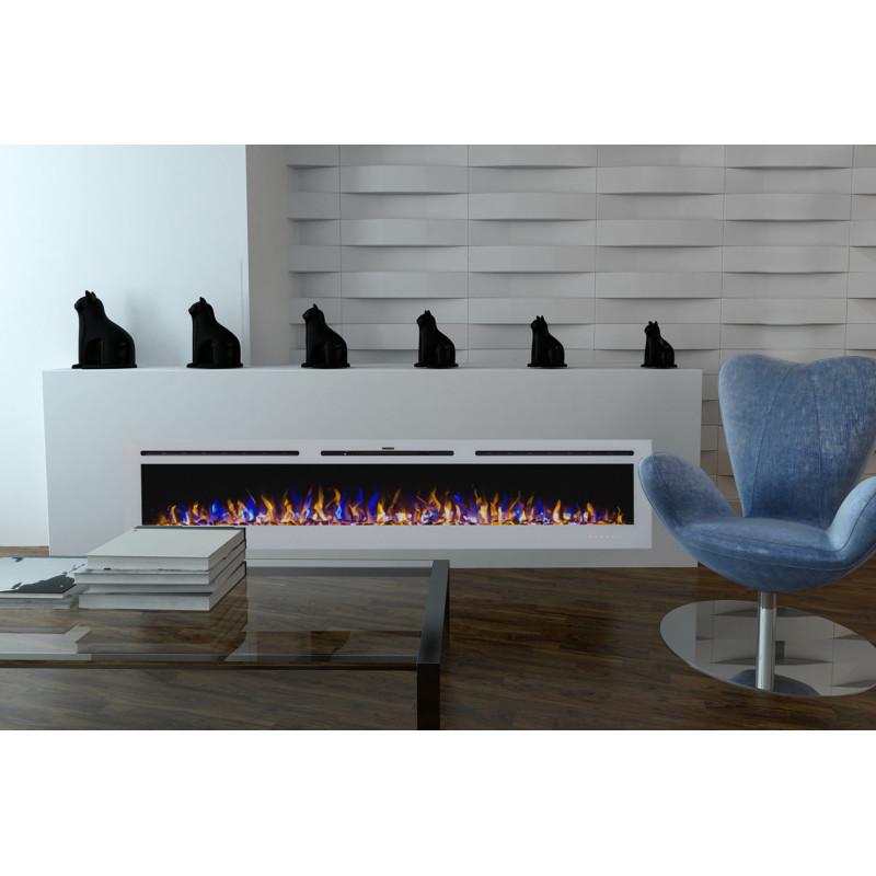 cheminee electrique encastrable blanche. Black Bedroom Furniture Sets. Home Design Ideas