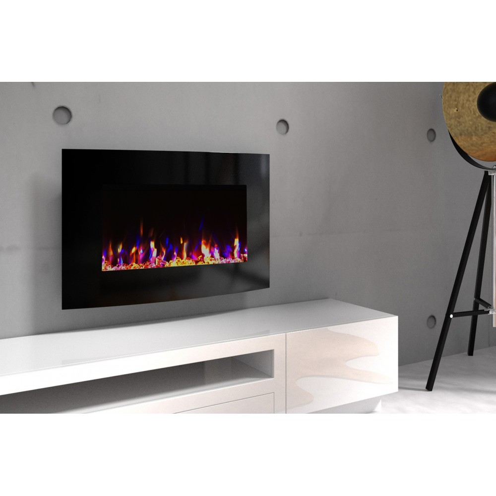 Chemin e lectrique d corative kamin curve 36 kamin klaus - Cheminee decorative electrique ...