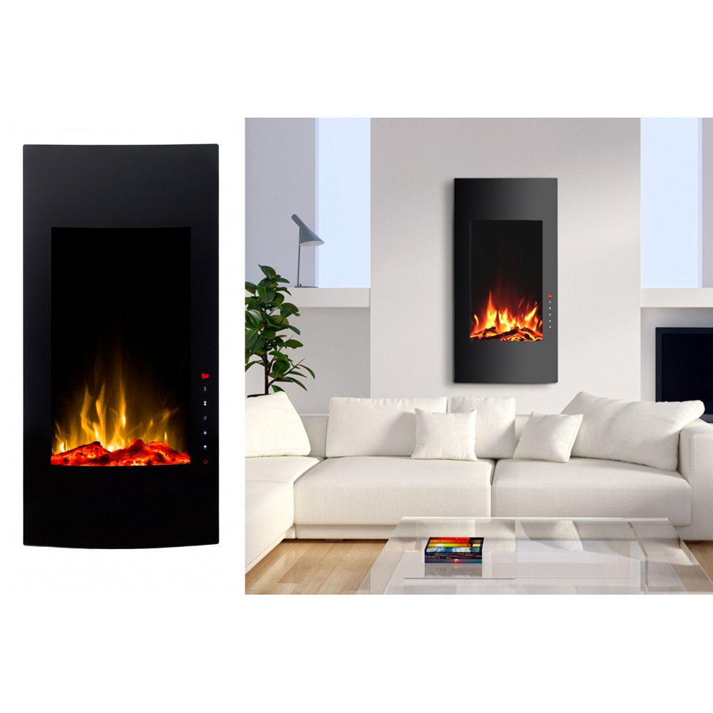 Chemin e lectrique d corative kamin verticale 16 kamin klaus - Cheminee decorative electrique ...