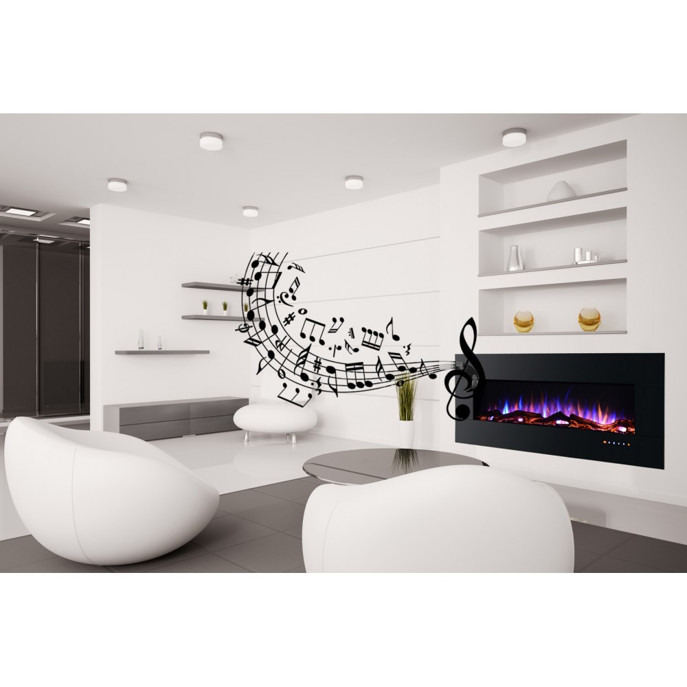 chemin e lectrique encastrable kamin musica 50. Black Bedroom Furniture Sets. Home Design Ideas